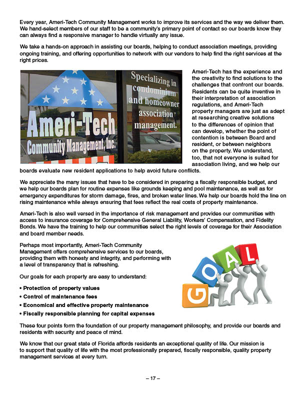 Community Management Program Ameri-Tech