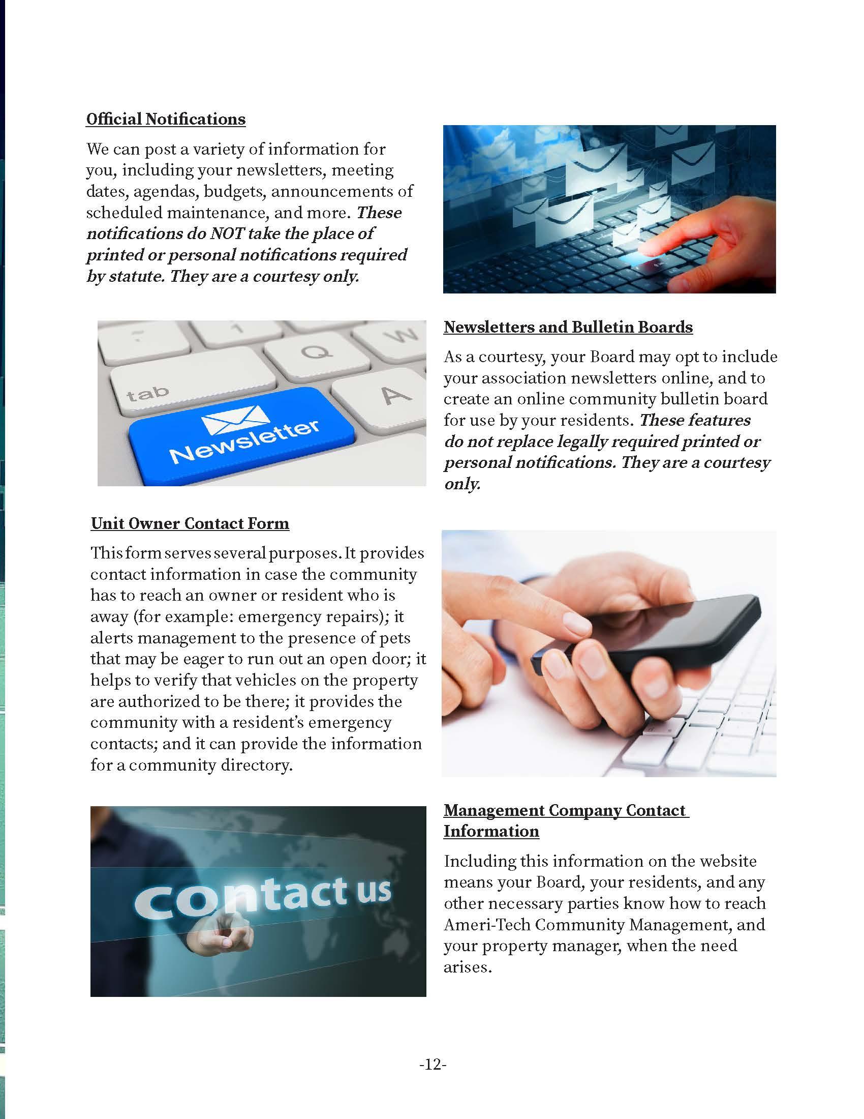Community Websites Developed by Ameri-Tech